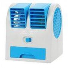 Lotte Mini Air Fan 2in1 พัดลมไอน้ำ ชนิดตั้งโต๊ะ พกพา รุ่นสองใบพัด พร้อมไอเย็น (สีฟ้า)
